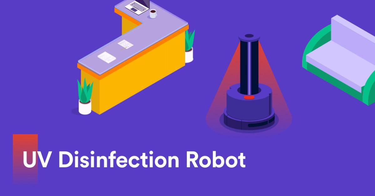 Robotti avuksi julkisten tilojen desinfiointiin